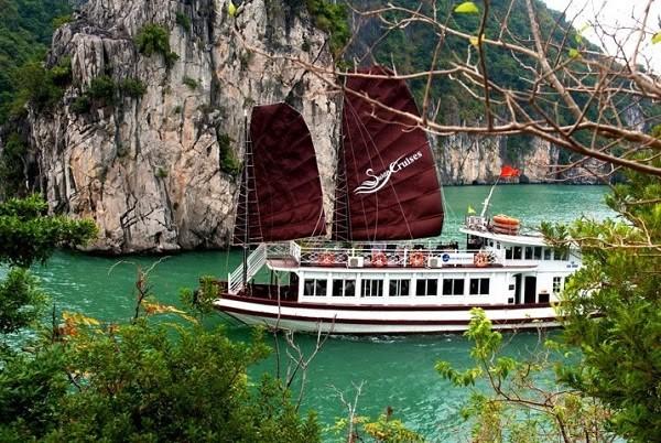 Một du thuyền tham quan vịnh Bái Tử Long