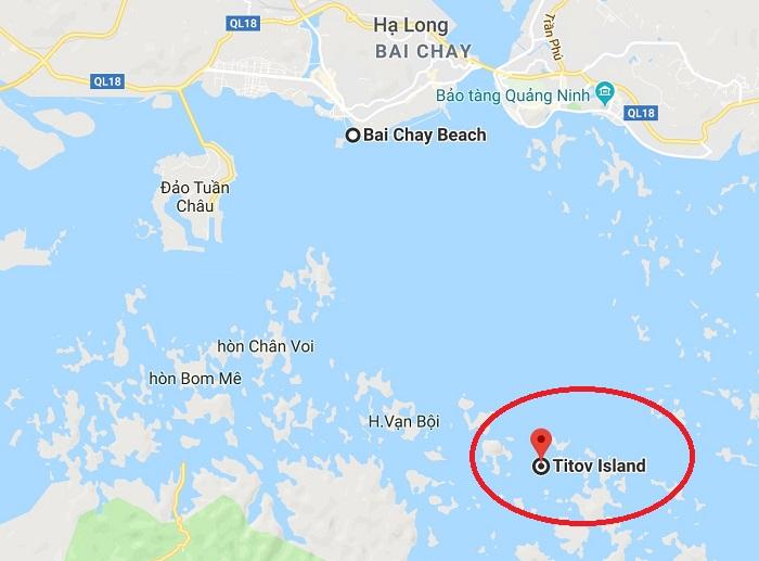Vị trí của đảo Ti Tốp